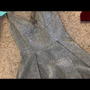 Dave and Johnny Gunmetal Size 5/6 Prom Dress